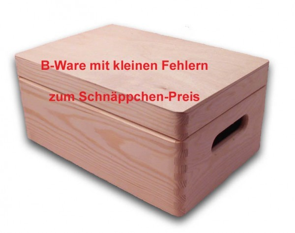 b ware gro e aufbewahrungsbox holzkiste m deckel u griffl chern kiefer ebay. Black Bedroom Furniture Sets. Home Design Ideas