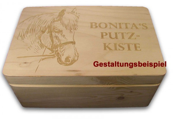 aufbewahrungsbox holzkiste m deckel gr 1 kiefer incl. Black Bedroom Furniture Sets. Home Design Ideas