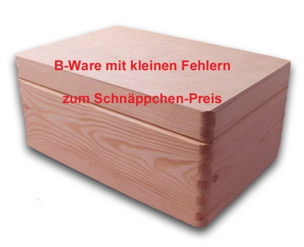 b ware gro e aufbewahrungsbox holzkiste mit deckel kiefer. Black Bedroom Furniture Sets. Home Design Ideas