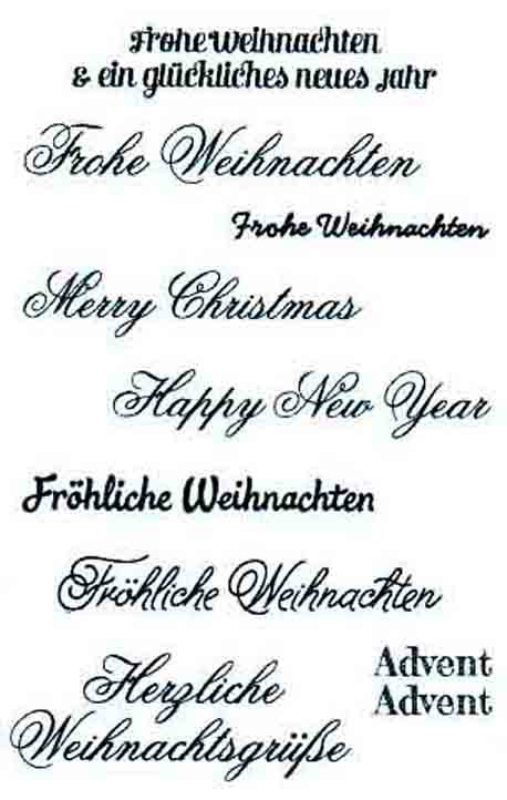 clearstamp stempelset silikon stempel texte weihnachten. Black Bedroom Furniture Sets. Home Design Ideas
