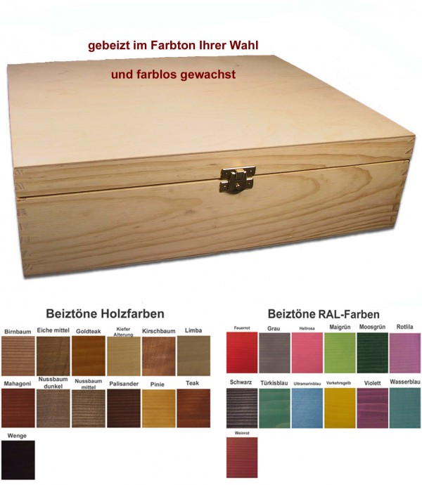 weinkiste f r 3 flaschen geschenkbox holz im wunschton. Black Bedroom Furniture Sets. Home Design Ideas
